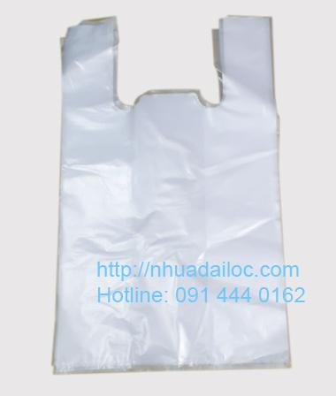 Túi Nilon 35 trắng gai