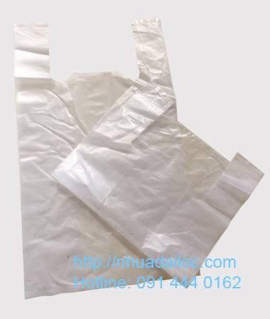 Túi nilon trắng gai