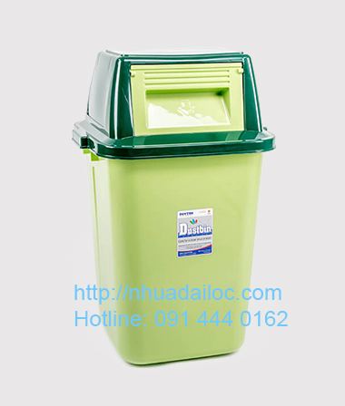 thùng rác nhựa nắp lật