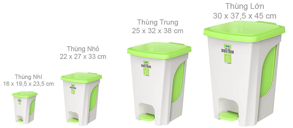 thùng rác văn phòng chân đạp
