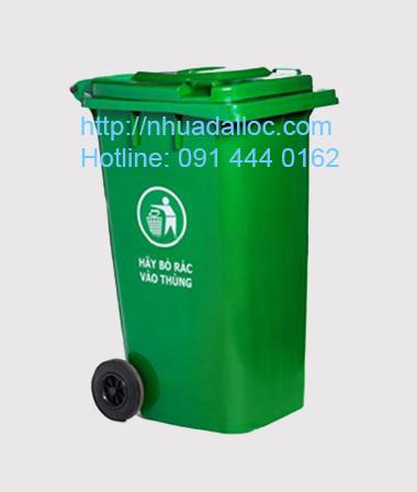 Thùng rác 240l xanh