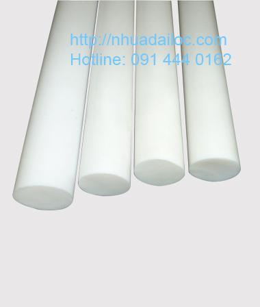 thanh nhựa tròn PP trắng