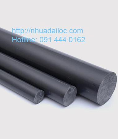 Cây nhựa PVC tròn đặc màu xám